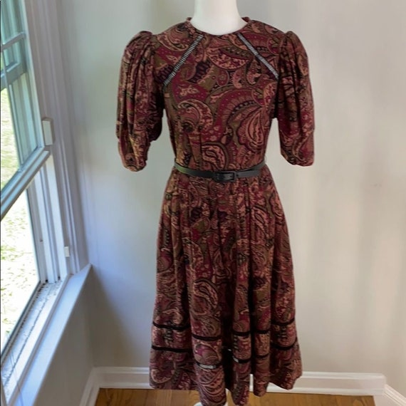 Vintage 1970s Victor Costa Evening Dress