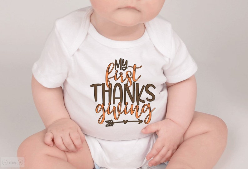 My First Thanksgiving Holiday Baby Onesie My First Thanksgiving Baby Onesie My First Thanksgiving Babys First Thanksgiving Holiday Onesie