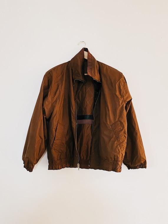 Vintage Windbreaker Jacket•Reversible