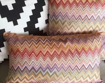 AUTHENTIC MISSONI FABRIC John 156O cushion cover approx 30x50cm 12x20 inch 100% sateen