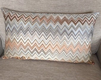 AUTHENTIC MISSONI FABRIC John 160 cushion cover approx 30x50cm 12x20 inch 100% sateen