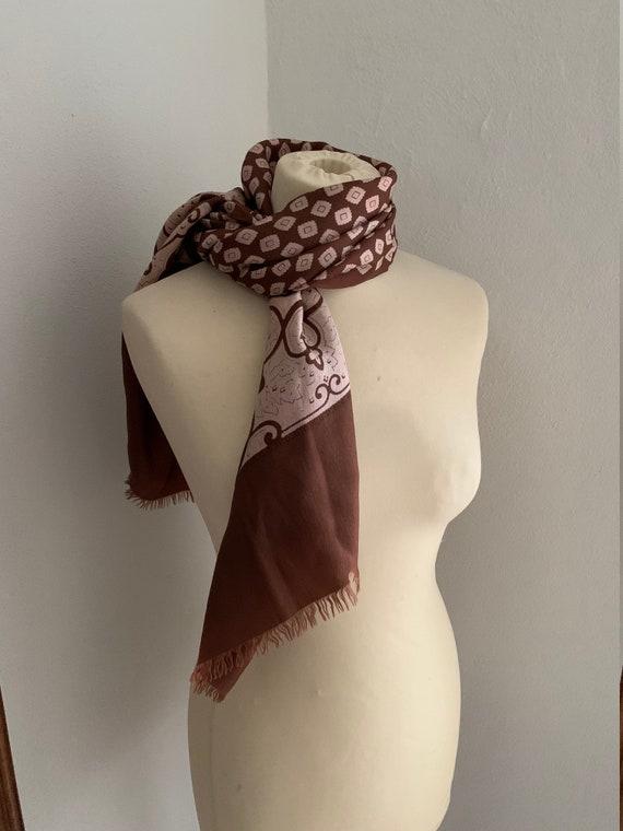 Vintage 1970s silk scarf