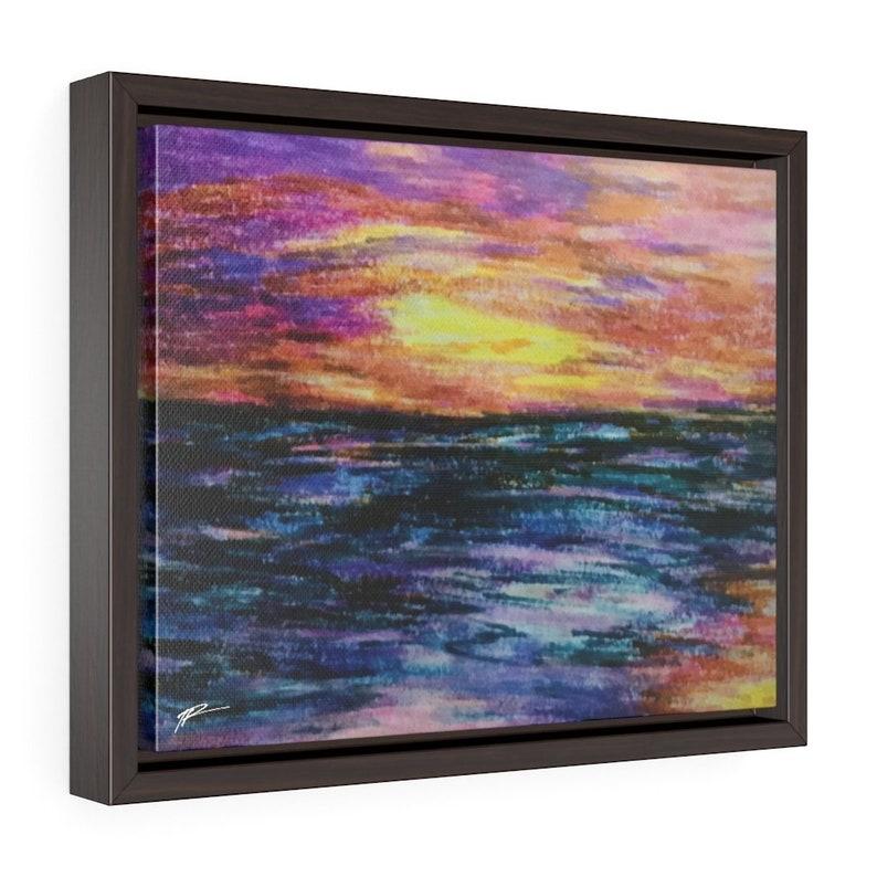 Bright Night Framed Canvas