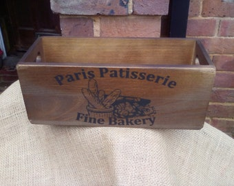 Rustic wood storage box Elland Road Top Christmas gift for Leeds football fans