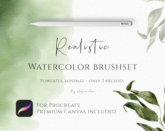 REALISTIC watercolor brush kit for procreate, brush set for Ipad, watercolor brush pack, Procreate brushes, Paper canvas for Procreate, Ipad