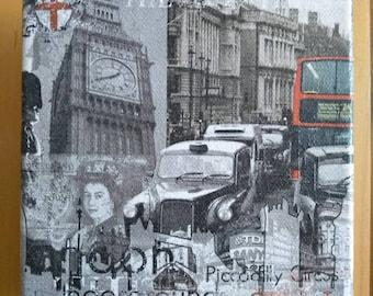 London scene canvas 15x15cm