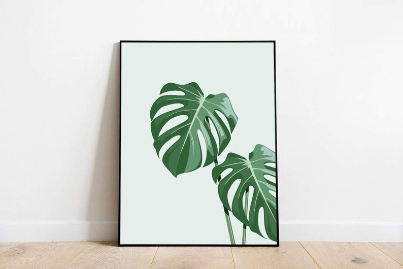 Monstera Art Print 3 sizes image 0