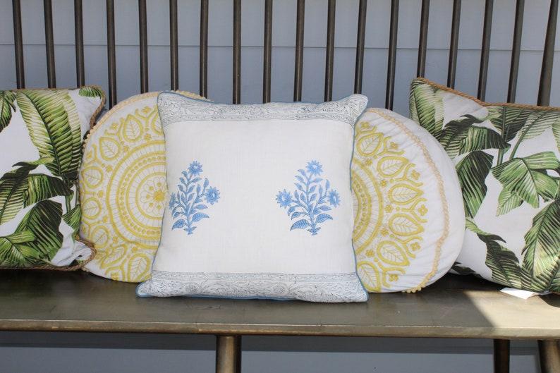 16 x 16 Woven Pillow Case FLORAL PILLOW CASE Elegant Pillow Cases Home Cushion Cover Printed Pillow Case Cotton Pillow Cover