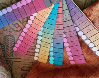 """Premo Colour Formulas - Effects """"Soft Metal"""" -  Handmade from polymer clay"""