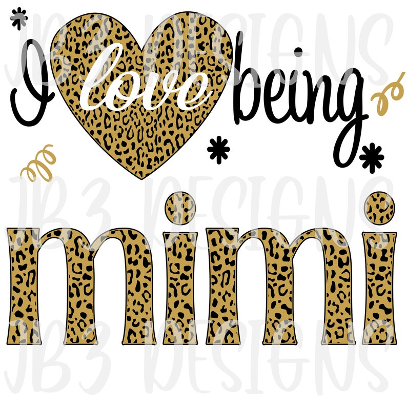 Download I love being a MIMI SVG and PNG Sublimation | Etsy