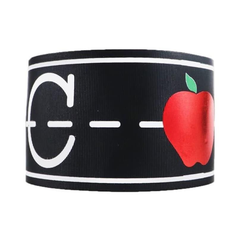 Back to school ribbon,foil ribbon,apple ribbon,ribbon,back to school