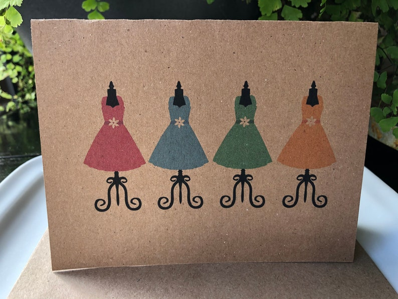 handmade recycled greeting card dresses  etsy