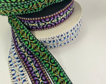 Native Southwest jacquard fabric trim 1 inch wide sold by the yard.
