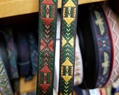 Woven trim native American fabric trim, jacquard trim, 1 2 inch wide, sold by the yard.