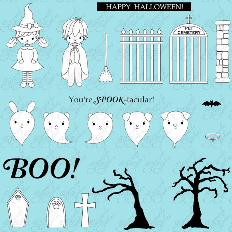 My Little Pet Ghost pet cemetery bats ghost witch vampire image 0