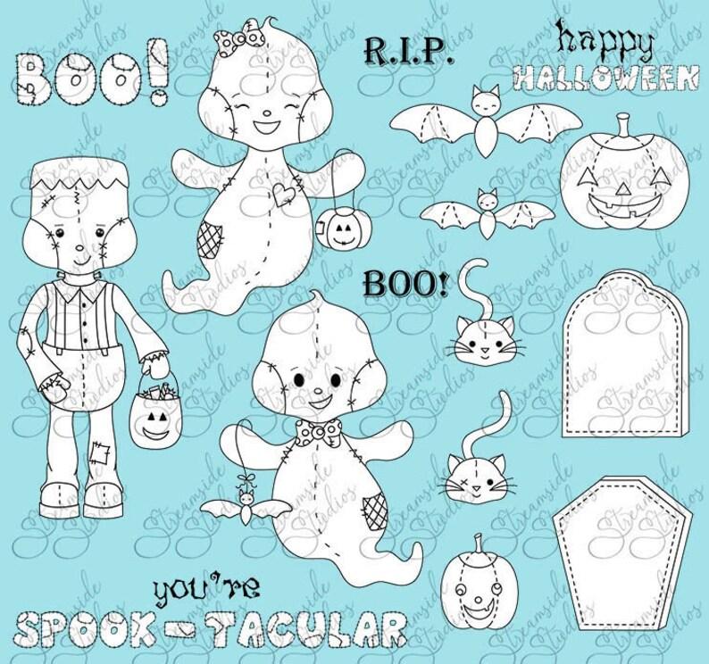 Patchpal Halloween ghost Frankenstein pumpkin bats and image 1