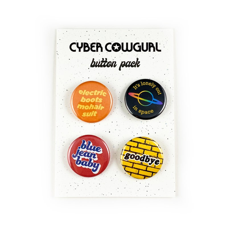 Space Button Pins Set Button Pins Pack Overall Pins Pins for Bags
