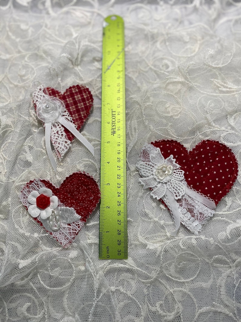 Padded Hearts For the Love of Red.