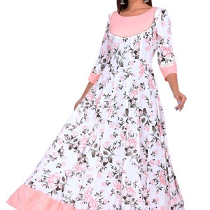 Women/'s  100/% Cotton Kurta Beautiful Printed  Kurta  With Pant and Malmal Dupatta for Festive Season