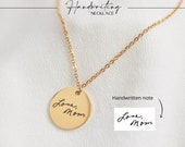 Actual Handwriting Necklace, Personalized Bar Necklace, Handwriting Jewelry, hand writing memorial necklace, handwriting gifts