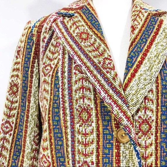 Vintage 70s Embroidered Blazer