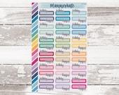 S-792    BIRTHDAY Script Box Planner Stickers photo