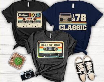 1978 Birthday, 1978 TShirt, 1978 Gift, 43 Years Old, 43rd Birthday Shirt, 43rd Birthday Gift For Men, Women, 70s T-Shirt, Limited Edition