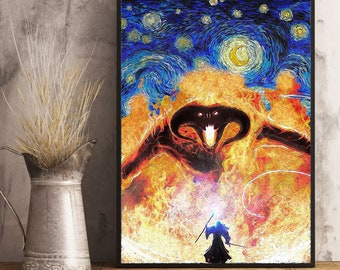 Details about  /The Lord of The Rings Hobbit Balrogs Vintage Poster Painting Art Picture Paper