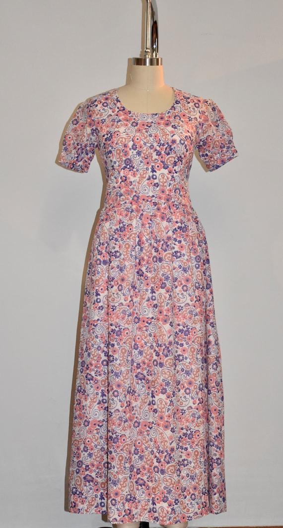 Floral 60s maxi dress