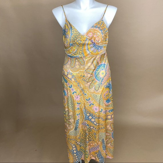 Vintage 70s Spaghetti Strap Low Back Dress
