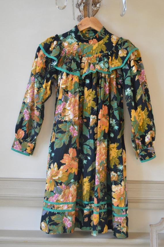 Vintage 1980s Kenzo Floral Dress - image 6