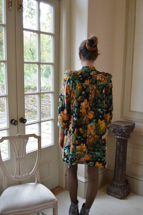 Vintage 1980s Kenzo Floral Dress - image 4