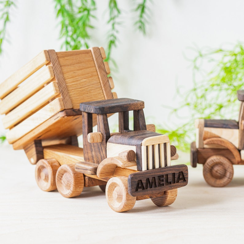 Wooden Agricultural Truck Toy Personalized Kids Truck image 0