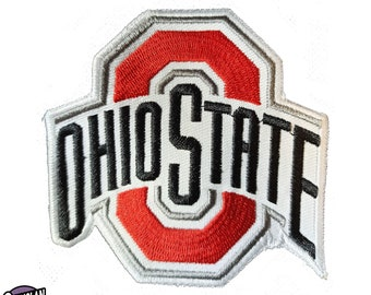 Ohio State Flag Patch Embroidered Iron On Applique