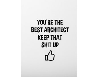 Architect Card, Architect Gift, Birthday Card for Architect, Architecture Graduation Card, Personalized, New Architect, Future Architect