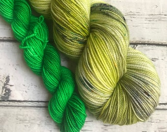 Matcha Tea sock set yarn  sock fingering Hand dyed yarn Gypsysoulfibers