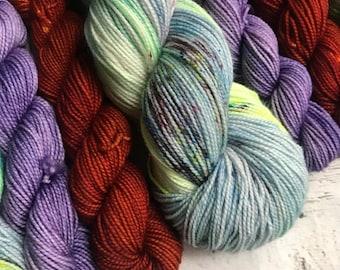 Rhinebeck FOMO sock set yarn  sock fingering Hand dyed yarn Gypsysoulfibers