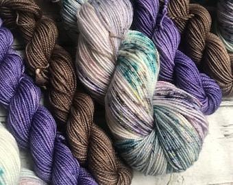 Frost sock set yarn  sock fingering Hand dyed yarn Gypsysoulfibers