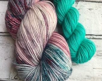 In Omnia Paratus Gilmore Girls sock set yarn  sock fingering Hand dyed yarn Gypsysoulfibers