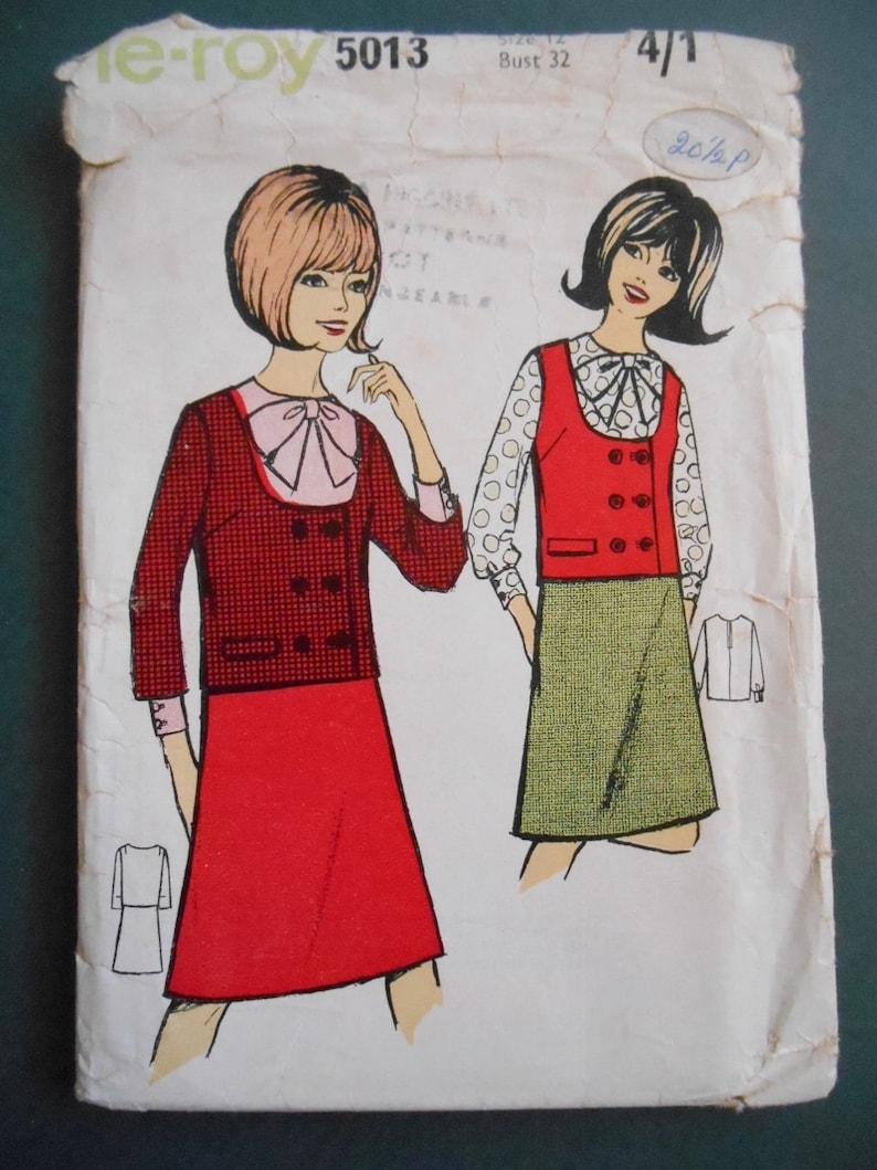 Shirt - jacket and skirt. Roy 5013 Patronpattern The Vintage -1960s