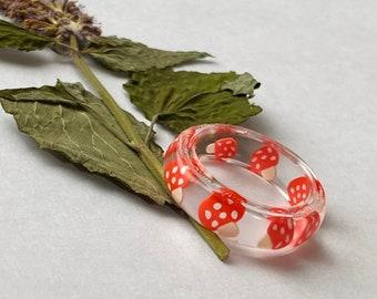 Resin mushroom ring
