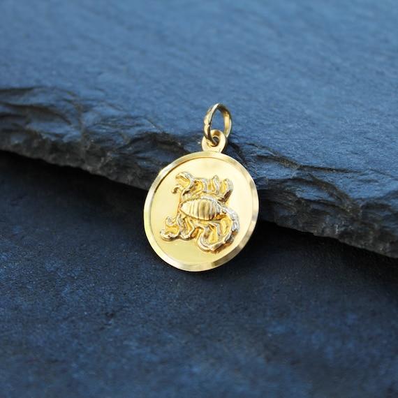 18k Gold Scorpio Zodiac Pendant