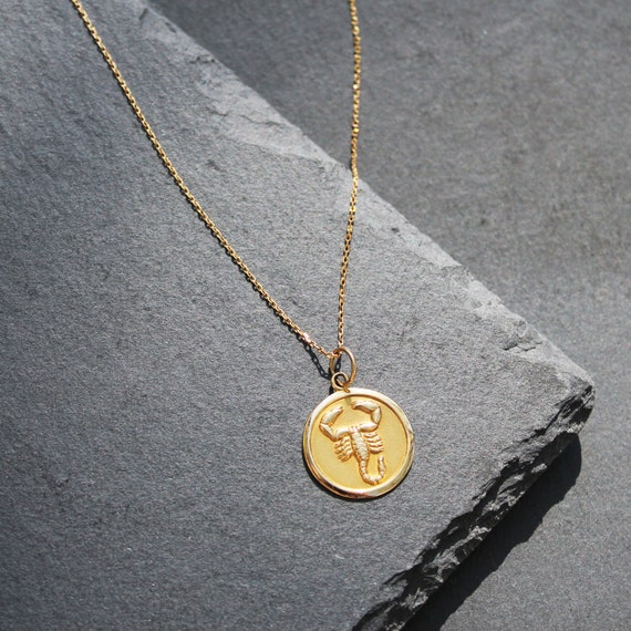 18k Scorpio Zodiac Necklace