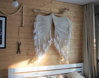 Large Macrame  Wall Hanging Home wings, Modern Boho Wall Decor, Macrame Wall Art, Wall Tapestry, wedding backdrop, Macrame