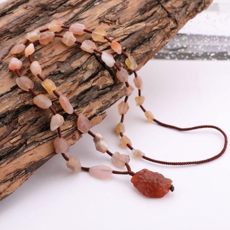 Sunstone Necklace Handmade Gemstone Stretch Necklace Meditation Necklace Light and Love Stone Necklace Sunstone Crystal Gift for Mum