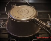 Patent 1910 Wagner Ware waffle iron with high base