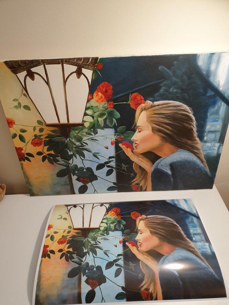 print of original oil painting THE ROSES