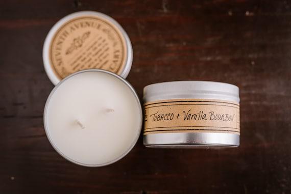 Tobacco Vanilla Bourbon Mini Tin Candle