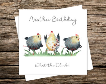 Dancing Chickens Birthday Card | Dancing Hens | Funny Card | Another Birthday