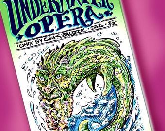 UNDERWATER OPERA -- (Indie Alternative Mini Comic Book Zine Comix Graphic Novel Sequential Art Cartoon Book) (Did I miss any buzzwords?)